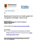 Assessing pharmaceutical commodity supply chain management